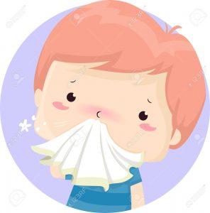 nez avec mouchoir